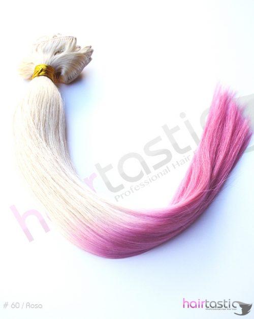 Dip Dye hår 60 / Rosa