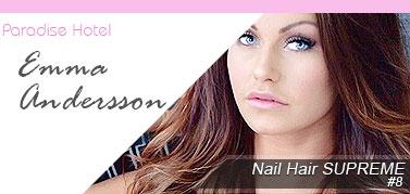 Emma Andersson Löshår hårförlängning Paradise Hotel