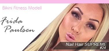 Frida Paulsen Fitness Löshår hårförlängning Nail hair
