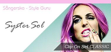 Systersol hår löshår hårförlängning extensions clip on